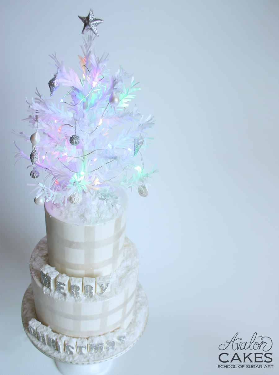 Avalon Cakes Christmas Tree Tutorial Wafer Paper (12)