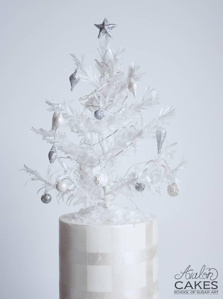 Avalon Cakes Christmas Tree Tutorial Wafer Paper (9)