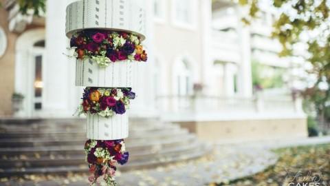 Hanging Flower Chandelier Cake