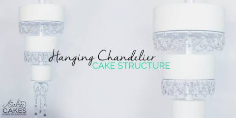 Hanging Wedding Cake Chandelier Stand Tutorial