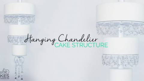Hanging Wedding Cake Chandelier Stand Tutorial