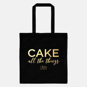 black-gold-metallic-cake-all-things