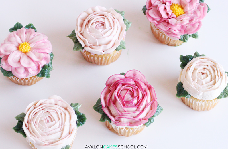buttercream-flower-cupcakes-easy-how-to-make-video-tutorial-rose-peony-leaf-leaves-ranuculous4