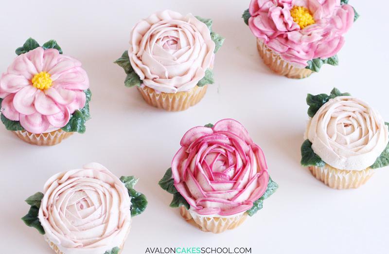 How to Make Buttercream Flower Cupcakes • Avalon Cakes