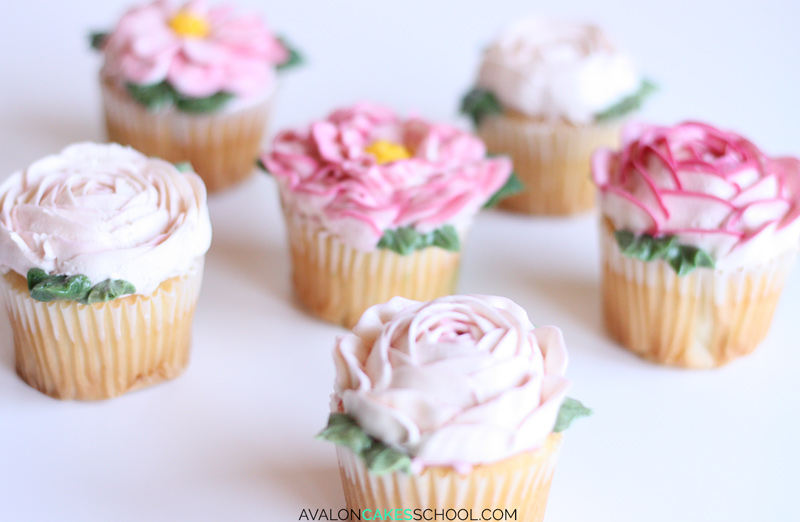 buttercream-flower-cupcakes-easy-how-to-make-video-tutorial-rose-peony-leaf-leaves2