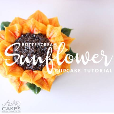 How to Make Buttercream Sunflower Cupcakes