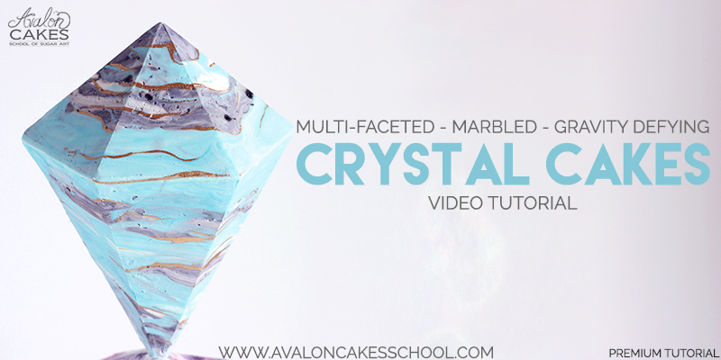 5 Tutorials For Defying Gravity: Marbled Crystal Cakes Tutorial