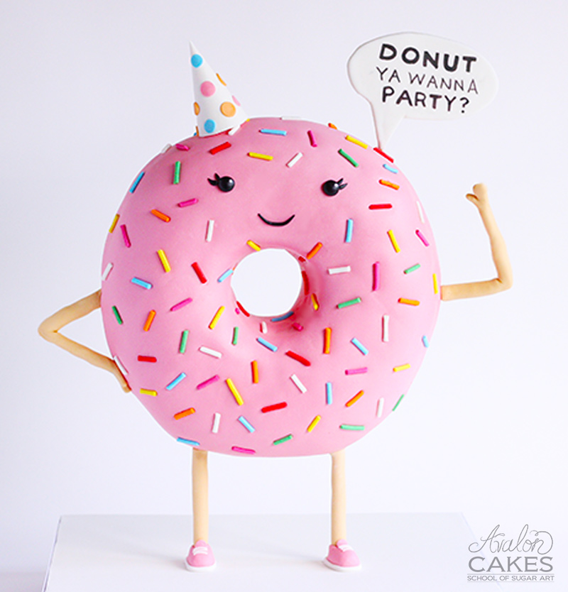 donut-cake2 party hat