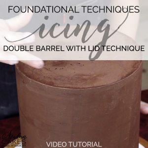 double-barrel-cake-icing-lid-technique-ganache-how-to-tutorial-video