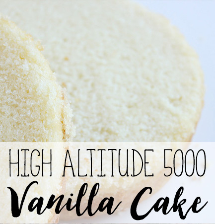 Cakes At High Altitude
