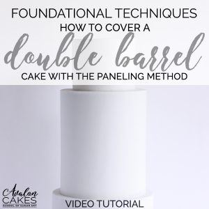 how-to-cover-a-double-barrel-cake-paneling-fondant-how-to-tutorial-avalon-cakes