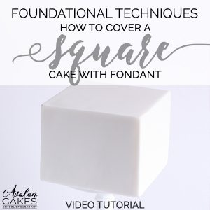 how-to-cover-a-square-cake-with-fondant-sharp-edges-cake-decorating-tutorial-avalon-cakes