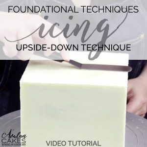how-to-ice-a-square-cake-ganache-buttercream-upside-down