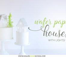 Wafer Paper Light Up Houses