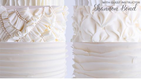 6 Different Fondant Ruffle Techniques with Shannon Bond