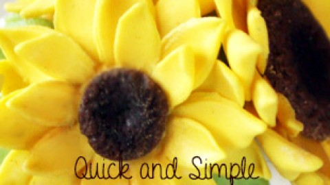 Mini Sugar Flower Sunflower Tutorial
