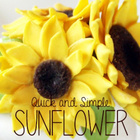 Mini Sugar Flower Sunflower Tutorial