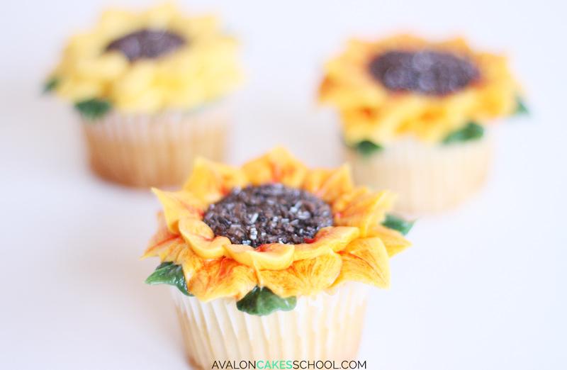 sunflower-cupcake-easy-how-to-make-buttercream-sprinkles-tutorial-no-tips-do
