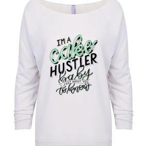 Cake Hustler Baby Terry Raglan Lightweight Sweatshirt