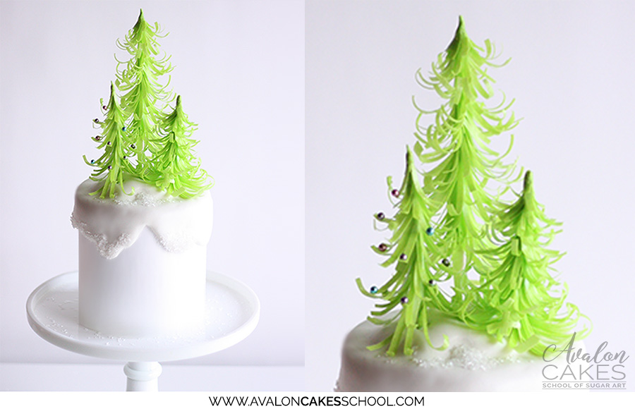 Quick Wafer Paper Trees • Avalon Cakes